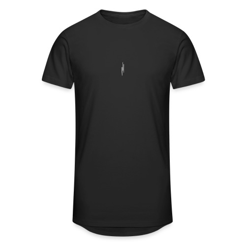 Upwards 3Lines Design WHITE - Men's Long Body Urban Tee
