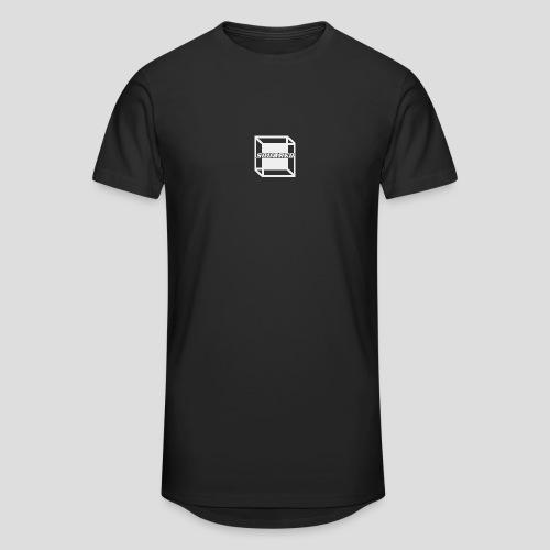 Squared Apparel White Logo - Men's Long Body Urban Tee