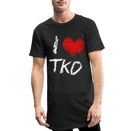 I love tkd letras blancas - Camiseta urbana para hombre