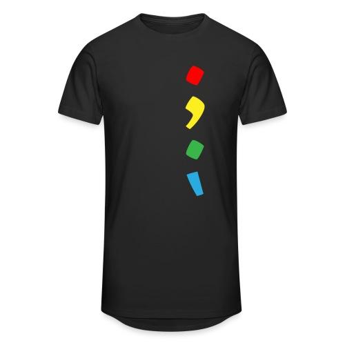 Tjien Logo Design - Vertical Accents - Mannen Urban longshirt
