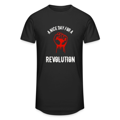a nice day for a revolution - Men's Long Body Urban Tee