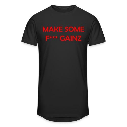 MakeSomeF *** Gainz_red - Men's Long Body Urban Tee