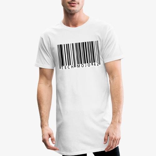 TM graphic Barcode Answer to the universe - Men's Long Body Urban Tee