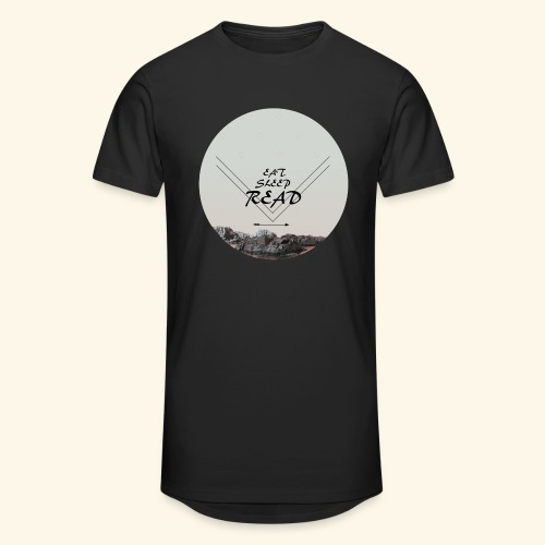 Eat, Sleep, Read - Urban lång T-shirt herr