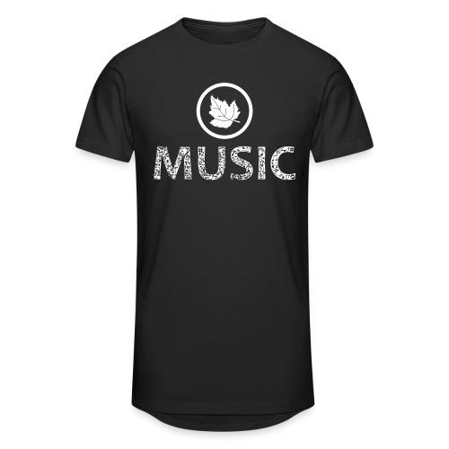 logo bashk music e bardhe - Men's Long Body Urban Tee