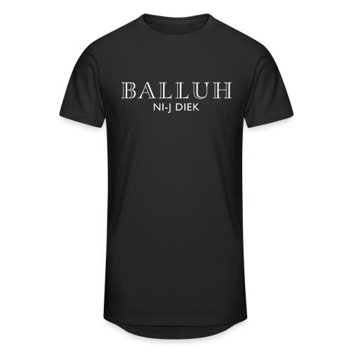 BALLUH NI-J DIEK - zwart/wit - Mannen Urban longshirt