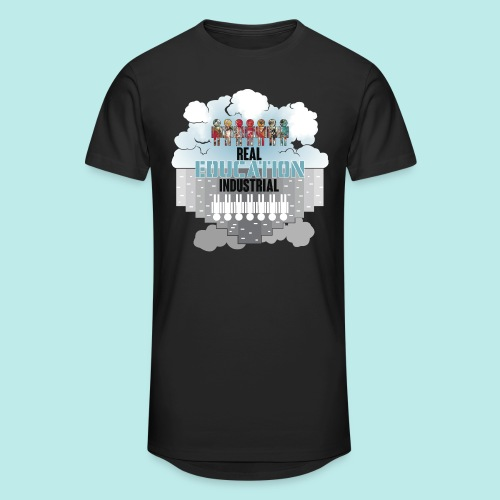 Real Education vs. Industrial Education - Camiseta urbana para hombre