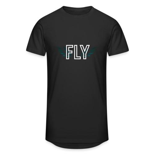 Wings Fly Design - Men's Long Body Urban Tee