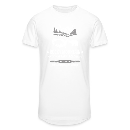 Rocky Mountain Nationalpark Berg Bison Grizzly Bär - Men's Long Body Urban Tee