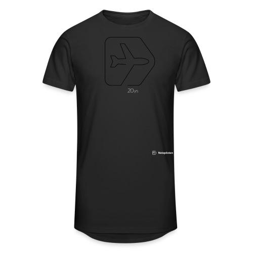 Netzpiloten Logo weiss - Männer Urban Longshirt