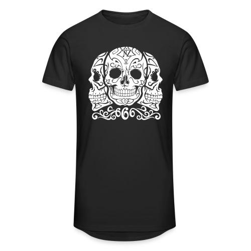 Skull Dia de los muertos - T-shirt long Homme