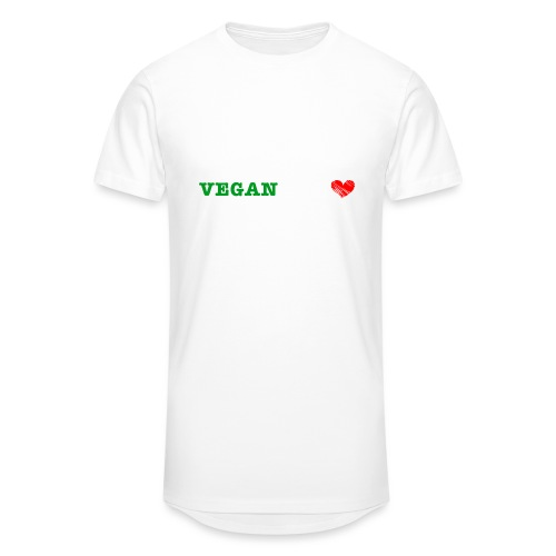 be my VEGANtine - white - Men's Long Body Urban Tee