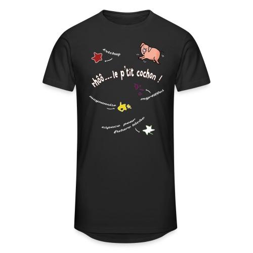 Rhoo le ptit cochon ! (version pour fond sombre) - T-shirt long Homme