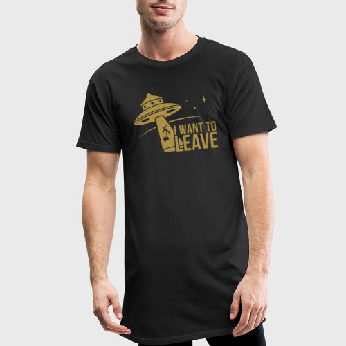 I want To Leave - OVNI - T-shirt long Homme
