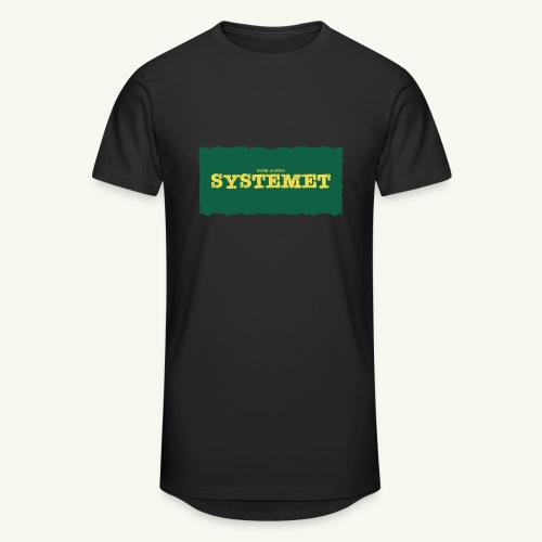 Glöm aldrig Systemet - Urban lång T-shirt herr