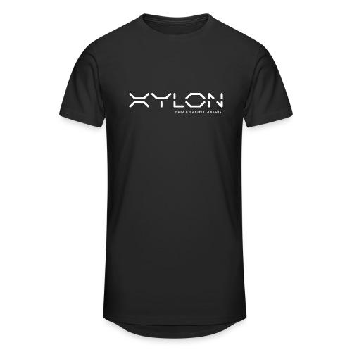 Xylon Handcrafted Guitars (name only logo white) - Men's Long Body Urban Tee