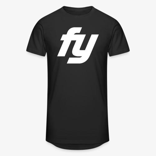 Logo Trendy Weiss - Männer Urban Longshirt