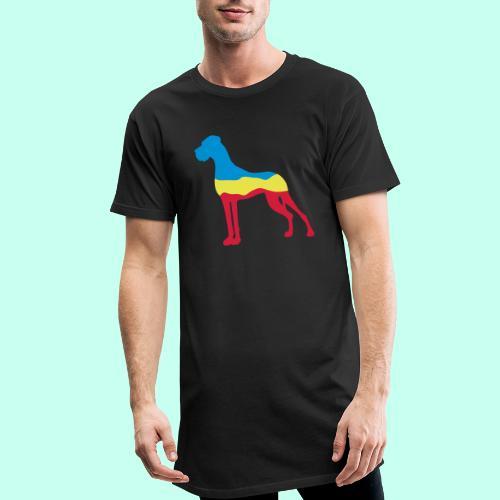 Flaggen Dogge - Männer Urban Longshirt