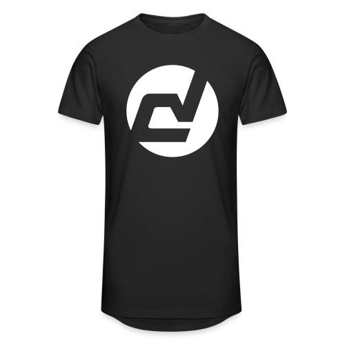 logo blanc - T-shirt long Homme