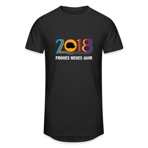 Frohes neues Jahr 2018 Igeldesign - Männer Urban Longshirt