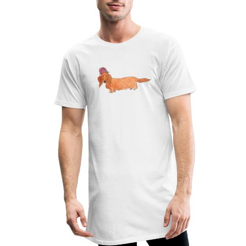 dachshund with flower - Herre Urban Longshirt