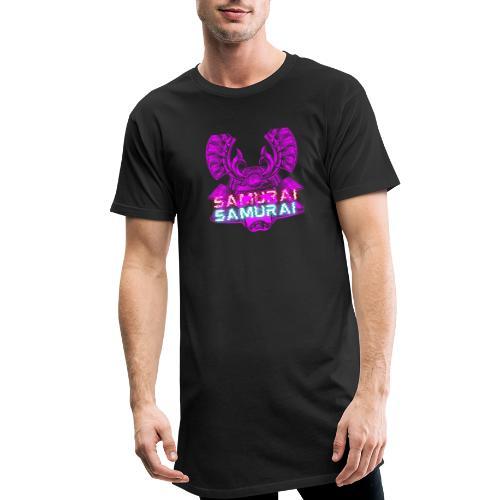 Cuberpunk samurai asian bushido shogun fighter - Długa koszulka męska urban style