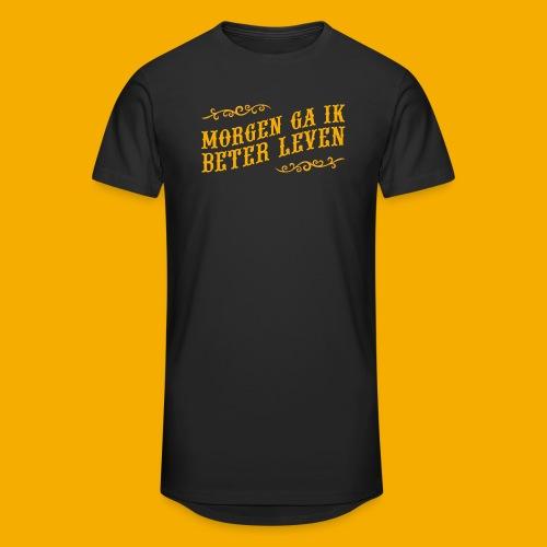 tshirt yllw 01 - Mannen Urban longshirt