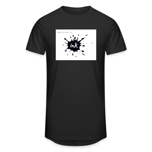 Ink Logo and website - Men's Long Body Urban Tee