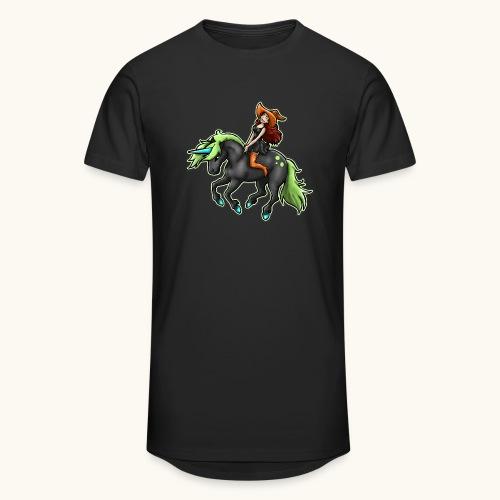 Monter une sorcière sexy sur une licorne. - T-shirt long Homme