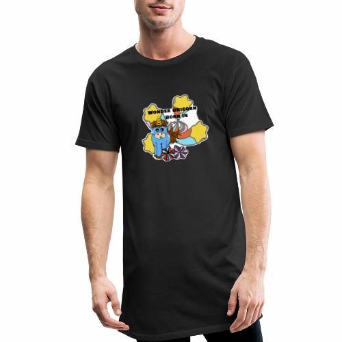 Une merveilleuse licorne est née (pour garcon) - T-shirt long Homme