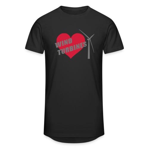 wind turbine grey - Men's Long Body Urban Tee