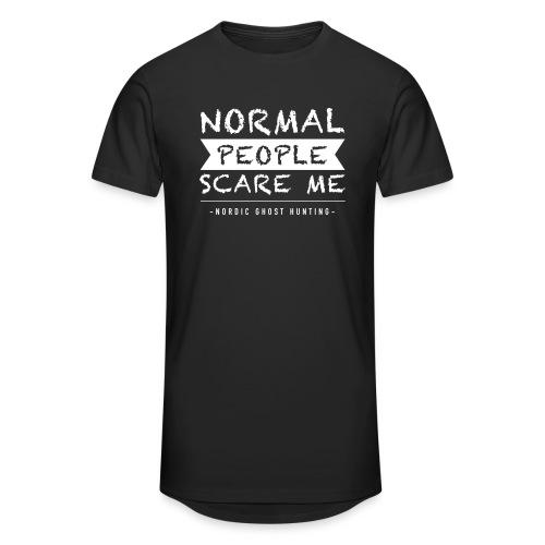 Normal people scare me - Urban lång T-shirt herr