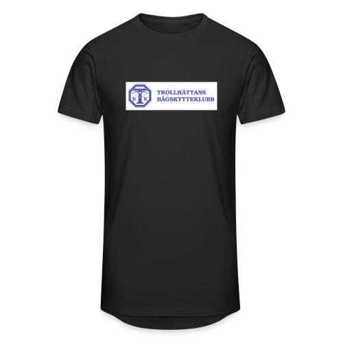 Piké Herr Slim - Tävlingströja med ryggtryck - Urban lång T-shirt herr