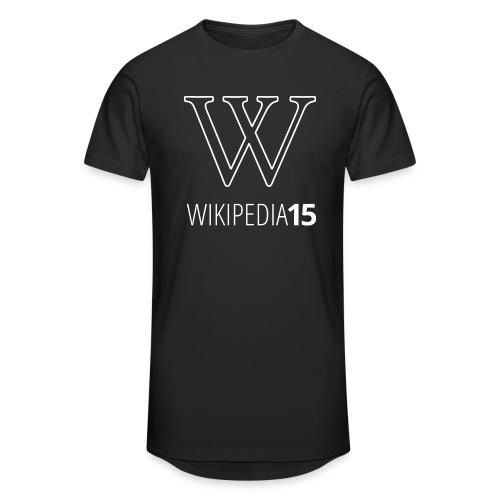 W, rak, svart - Urban lång T-shirt herr
