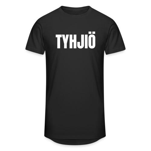TYHJIÖ Logo White - Miesten urbaani pitkäpaita