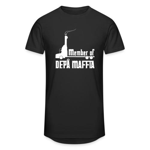 Depå Maffia vitt tryck - Urban lång T-shirt herr