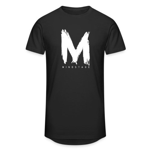 Logo Weiß - Männer Urban Longshirt