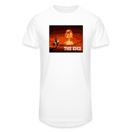 THE END (version 2 : pour toute couleur de fond) - T-shirt long Homme