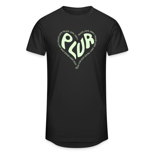 PLUR Peace Love Unity & Respect ravers mantra in a - Men's Long Body Urban Tee