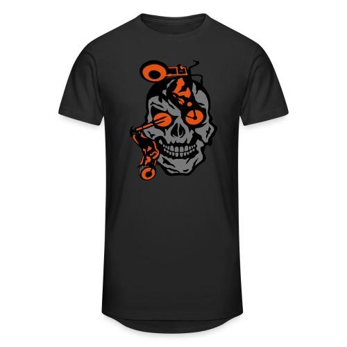 tete mort moto motrocycle oeil skull - T-shirt long Homme