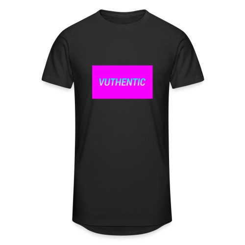 VUTHENTIC LOGO - Men's Long Body Urban Tee