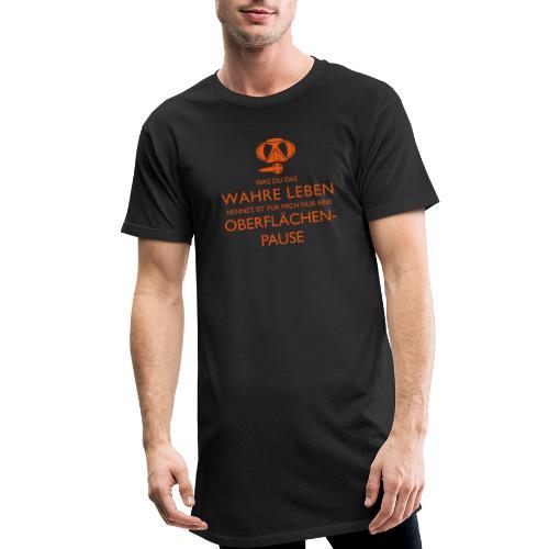 Das Wahre Leben? Nur Oberflächenpause! - Männer Urban Longshirt