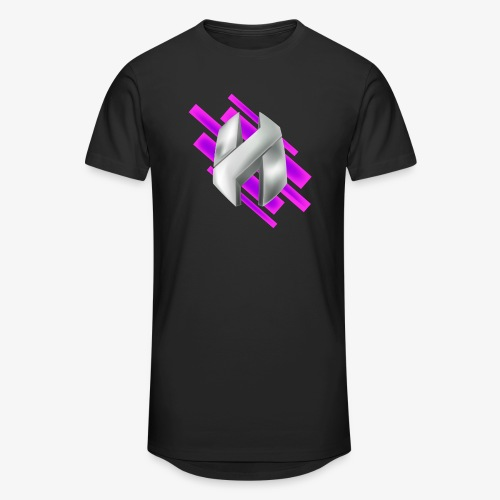 Abstract Purple - Men's Long Body Urban Tee