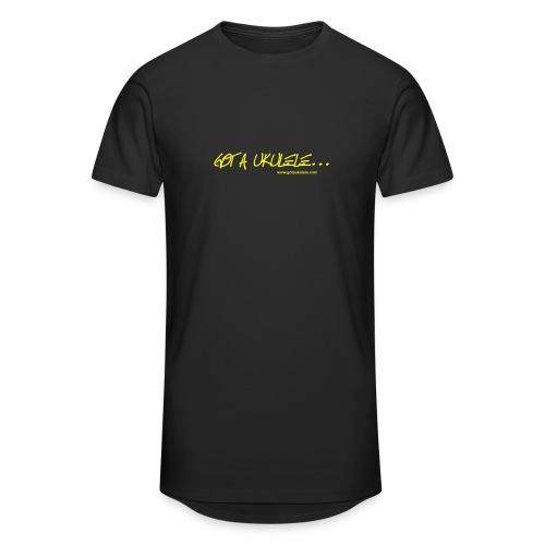 Official Got A Ukulele website t shirt design - Men's Long Body Urban Tee