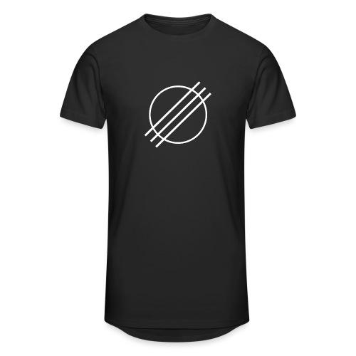 DJ Øyvind Offisiell Logo (hvit) - Urban lang T-skjorte for menn