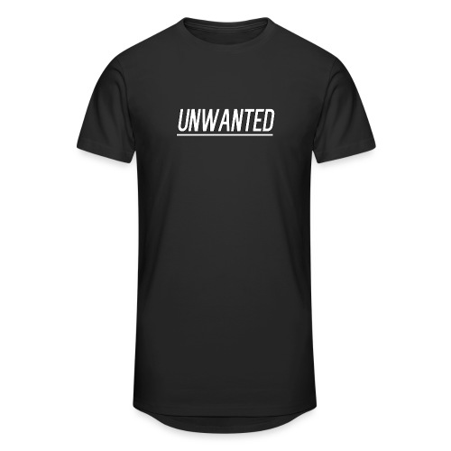 UNWANTED Logo Tee White - Men's Long Body Urban Tee