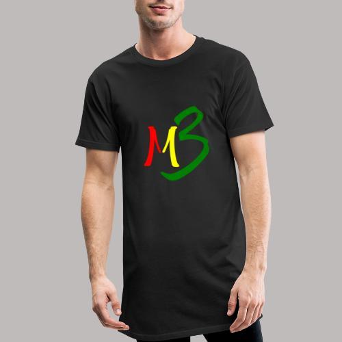 MB13 Logo rasta2 - Men's Long Body Urban Tee