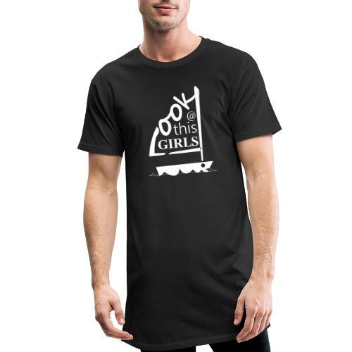 AndriesBik look thisGIRLS shirt witteletters - Mannen Urban longshirt
