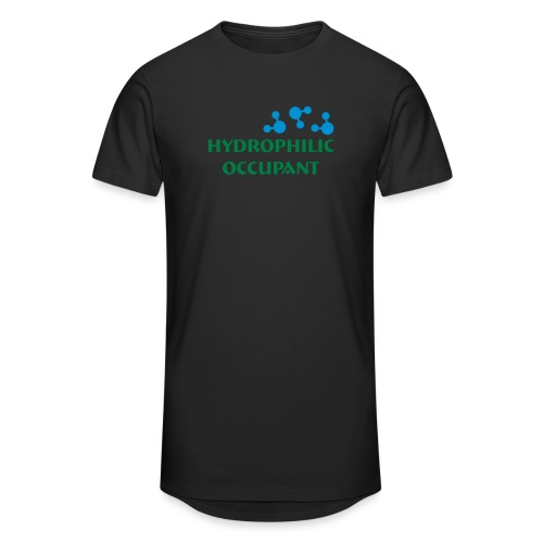Hydrophilic Occupant (2 colour vector graphic) - Men's Long Body Urban Tee