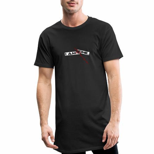 I AM FINE Design mit Schnitt, Depression, Cut - Männer Urban Longshirt